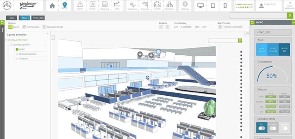 Aplicação da GISize! num ambiente aeroportuário